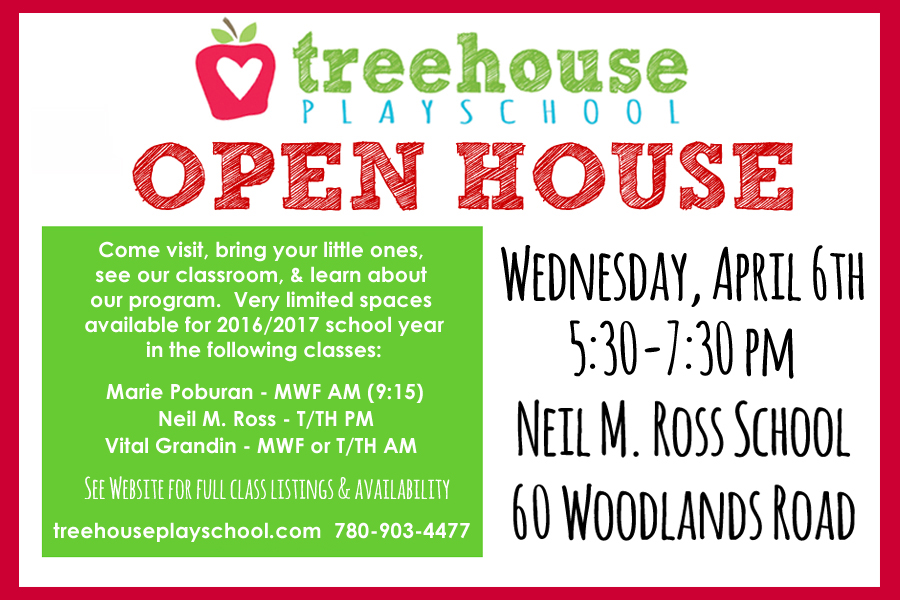 April Open House Postcard